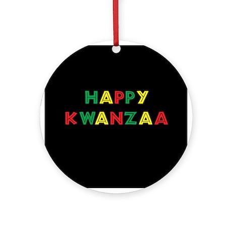 Happy Kwanzaa Ornament (Round)
