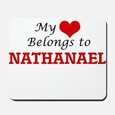 My heart belongs to Nathanael Mousepad