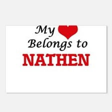 My heart belongs to Nathe Postcards (Package of 8)