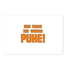 You Make Me Wanna Puke! Postcards (Package of 8)