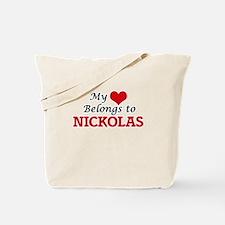 My heart belongs to Nickolas Tote Bag
