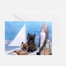 Cairn Terrier Boat Boys Greeting Card