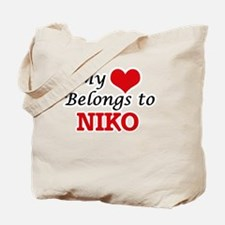 My heart belongs to Niko Tote Bag