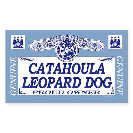 CATAHOULA LEOPARD DOG Rectangle Sticker