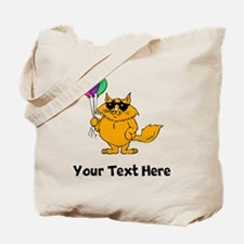 Cat With Balloons (Custom) Tote Bag