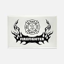 Fire Dept Firefighter Tattoos Rectangle Magnet