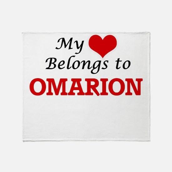 My heart belongs to Omarion Throw Blanket