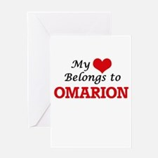 My heart belongs to Omarion Greeting Cards