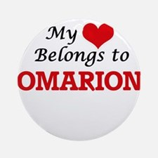 My heart belongs to Omarion Round Ornament
