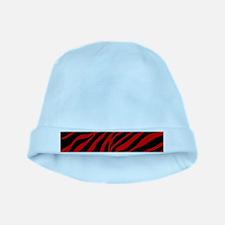 red zebra baby hat