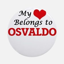 My heart belongs to Osvaldo Round Ornament