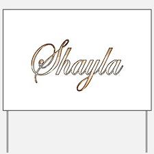 Gold Shayla Yard Sign