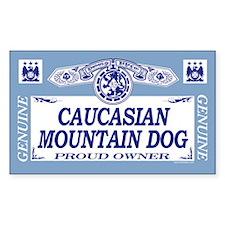 CAUCASIAN MOUNTAIN DOG Rectangle Decal