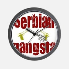 Serbian Gangster Wall Clock