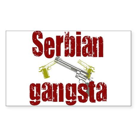 Serbian Gangster Rectangle Sticker
