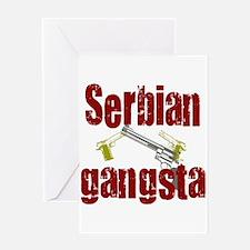 Serbian Gangster Greeting Card