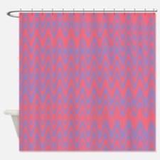 Pink and purple wavy lines pattern Shower Curtain