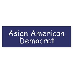 Asian American Democrat Bumper Bumper Sticker