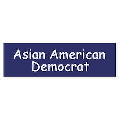 Asian American Democrat Bumper Bumper Sticker