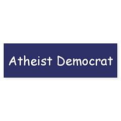 Atheist Democrat Bumper Bumper Sticker