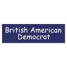 British American Democrat Bumper Bumper Sticker