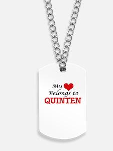 My heart belongs to Quinten Dog Tags