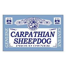 CARPATHIAN SHEEPDOG Rectangle Decal