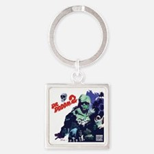 Cute Old school Square Keychain