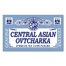 CENTRAL ASIAN OVTCHARKA Rectangle Decal