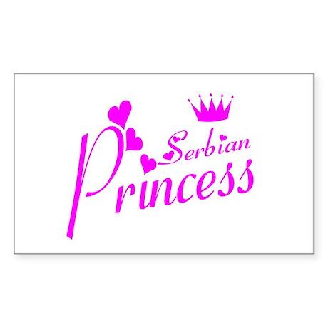 Serbian Princess Rectangle Sticker