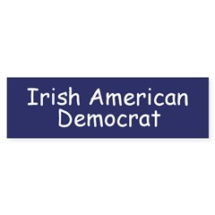 Irish American Democrat Bumper Bumper Sticker