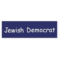 Jewish Democrat Bumper Car Sticker