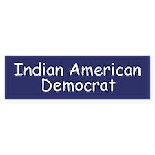 Indian American Democrat Bumper Bumper Sticker