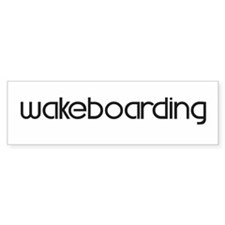 Wakeboarding (modern) Bumper Bumper Sticker