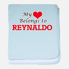 My heart belongs to Reynaldo baby blanket