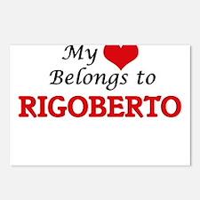 My heart belongs to Rigob Postcards (Package of 8)