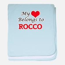 My heart belongs to Rocco baby blanket
