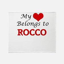 My heart belongs to Rocco Throw Blanket