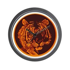 Orange Tiger Wall Clock