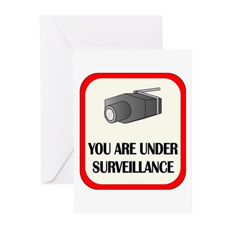 You Are Under Surveillance Greeting Cards (Pk of 2