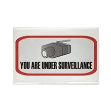 You Are Under Surveillance Rectangle Magnet (10 pa
