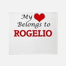 My heart belongs to Rogelio Throw Blanket