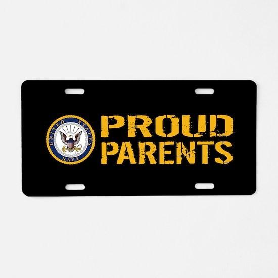 U.S. Navy: Proud Parents (B Aluminum License Plate