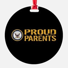 U.S. Navy: Proud Parents (Black & G Ornament