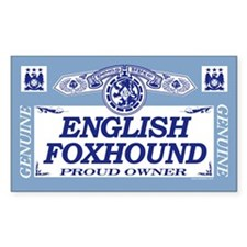 ENGLISH FOXHOUND Rectangle Decal