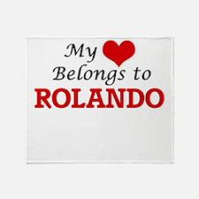 My heart belongs to Rolando Throw Blanket