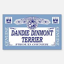 DANDIE DINMONT TERRIER Rectangle Decal