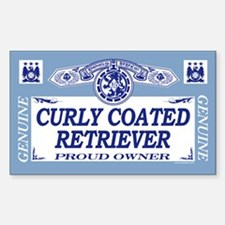 CURLY COATED RETRIEVER Rectangle Decal