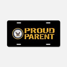 U.S. Navy: Proud Parent (Bl Aluminum License Plate