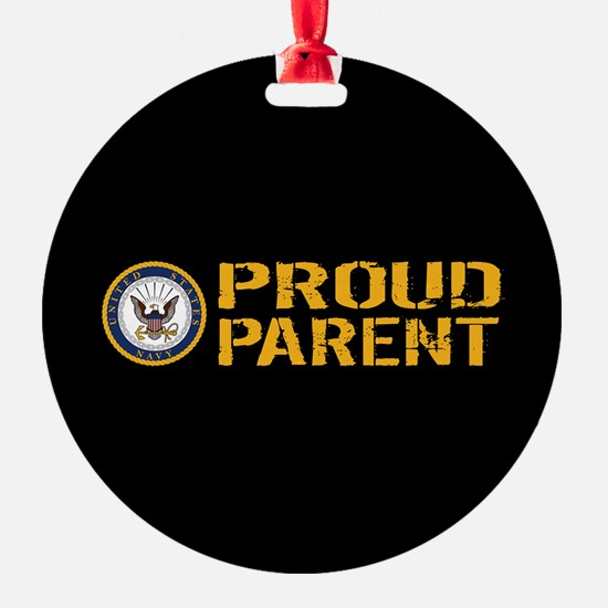 U.S. Navy: Proud Parent (Black & Go Ornament